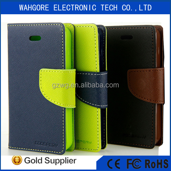 Mercury mobile phone leather flip cover for samsung galaxy j5 S3 S4 S5 S6 S7 EDGE