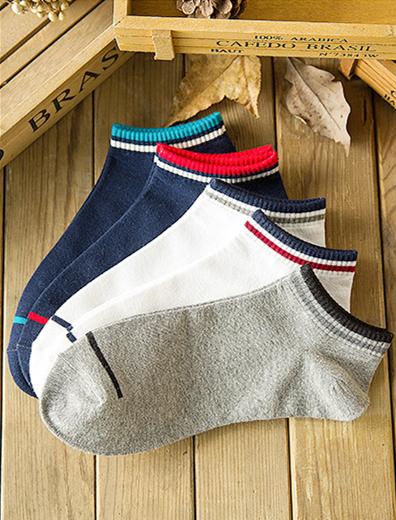 New design colorful men ankle socks, wide ankle socks(WP-16035)