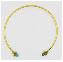 New arrival fashion women jewelry opening alloy antique gold Turquoise pendant nepal necklace jewelry