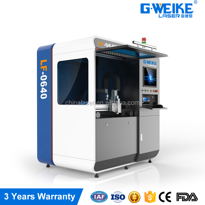 Jinan manufacture high quality 500w small fiber cnc laser metal cutting machine price