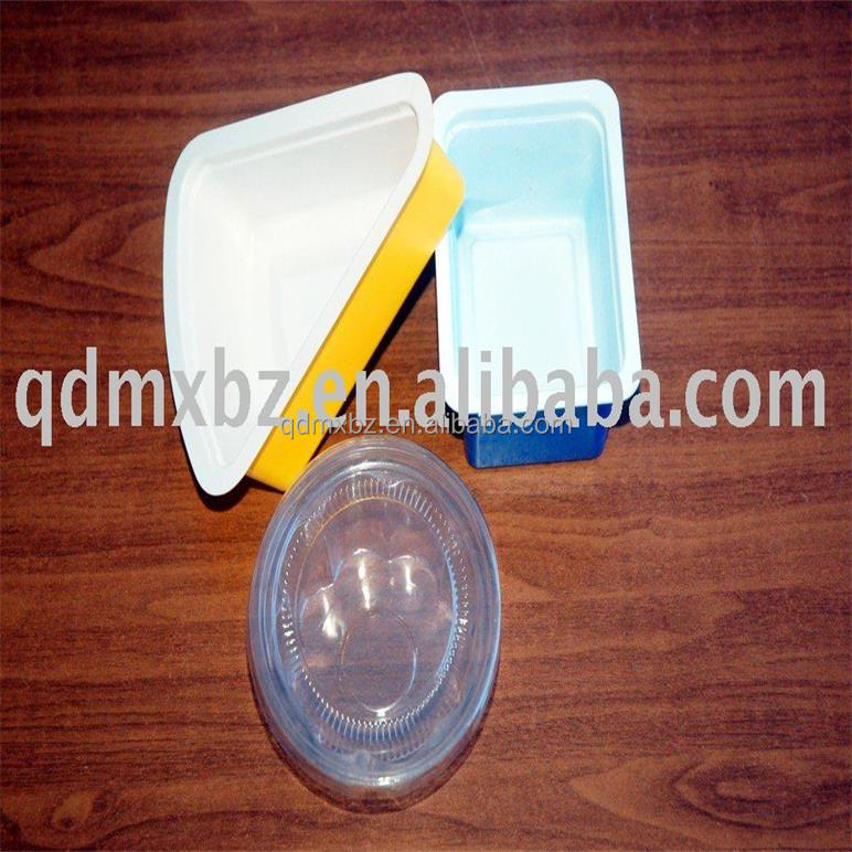 environmental plastic ice cream PVC sandwich cup container with cover