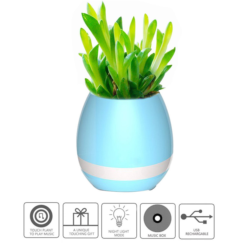 Best quality bluetooth led wireless flower pot travel use