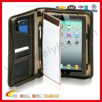 A4 portfolio for ipad,case for iPad mini with note pad,for ipad portfolio case with notepad