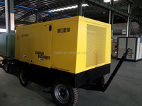 Excellent Screw Diesel Engined Portable Air Compressor QKCY-10/10 for Mining Project