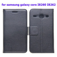 Titchi Texture Wallet Leather Case for Samsung Galaxy Core i8260 i8262 with Card Slots and Holder