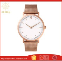 Luxury Rose Gold Mesh Strap Stainless Steel Women Watches With Japan Quartz Movement 5ATM Waterproof