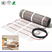 Good quality heating floor mat used in home