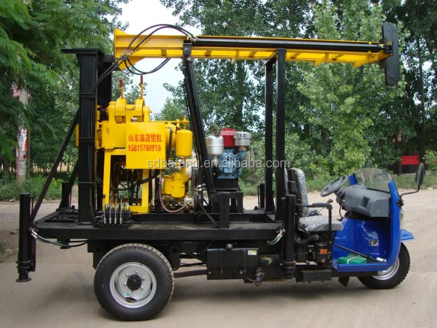 Three wheels protable drilling machine for water for 100m and 200m