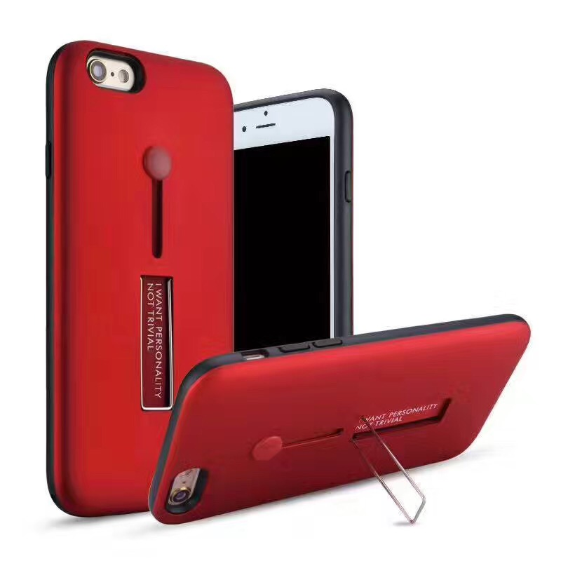 New Best Selling Multifunctional Antiskid Rubber Finger Slide Ring Holder Metal Kickstand 2 in 1 Cell Phone Case for all iPhone