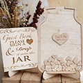 Jar Drop Box Personalized  wooden Wedding Guest Book alternative