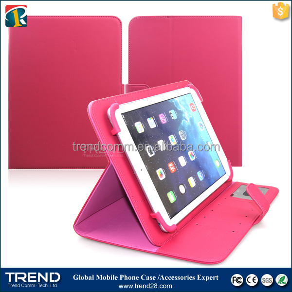 new hot selling products universal wallet leather case for ipad