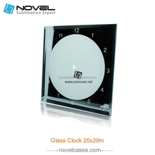 Sublimation Mirror Side Glass Clock Photo Frame