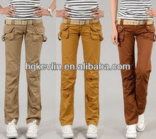 Smart Cargo trousers Fashion ladies long pants for summer