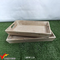 Home Decor Vintage Solid Rectangular Wood Tray