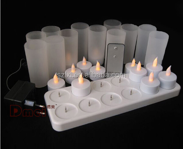 Rechargeable <strong>LED</strong> Tea Light / 12 PCS rechargeable <strong>LED</strong> tealight candle