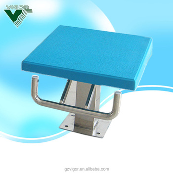 Factory 2018 fiberglass surface and stainless steel support swimming pool starting block, starting block for swimming pool