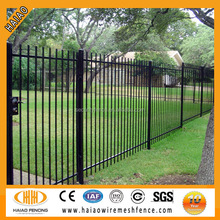 low carbon wrought iron estate fencing