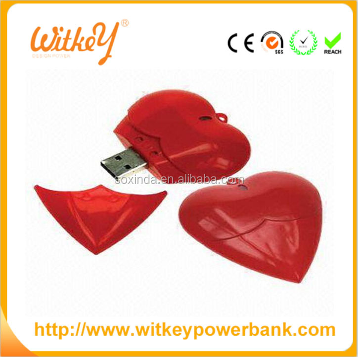 Promotional Valentine's Day bulk 2gb usb flash drives