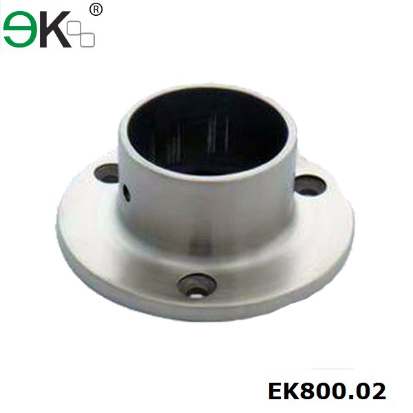Stainless steel round handrail flange base post plate cover