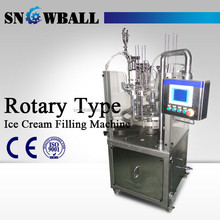 high quality stainless steel automatic ice cream rotary cup cone filling machine
