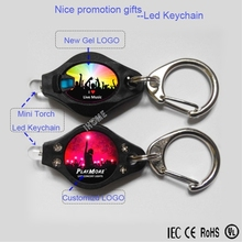 ABS Plastic promotional gift mini led keychain/tiny flashlights with C hook