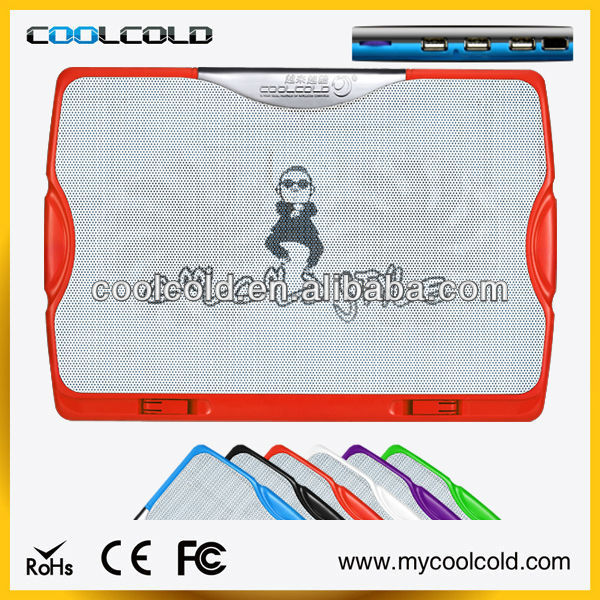 Coolcold dual 140mm fans with usb hub 15.6 custom laptop cooler