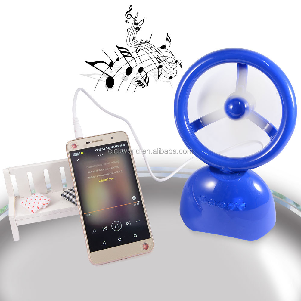 Y03 2 In 1 Adjustable Mini Fan & Wireless Bluetooth Speaker support Hands Free Calls/AUX/USB Drive/TF/FM, w/retail package