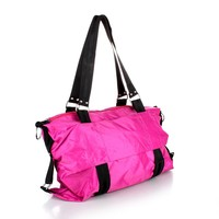 fancy Rainproof silken foldable shopping travel bag