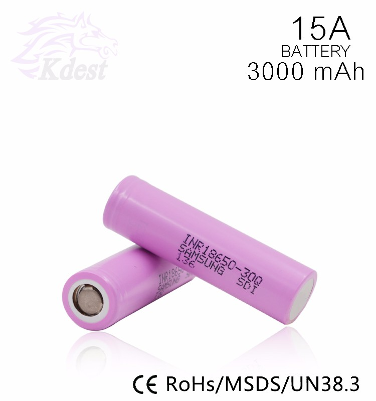 Wholesale Samsung 30Q 18650 3000mAh 30A Li-ion 3.7V High Discharge Battery For E-cigarette