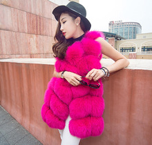 Nice Look Outdoor Fake Fur Vest Women Faux Fur Vest