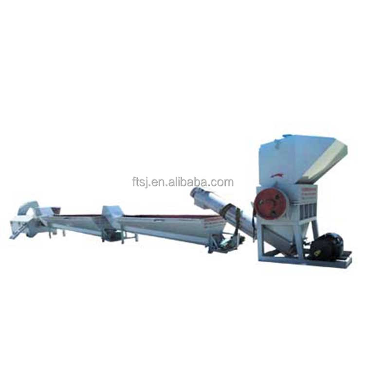 Can crush wash and dry the material durable plastic washing recycling line manufacturer for promotion