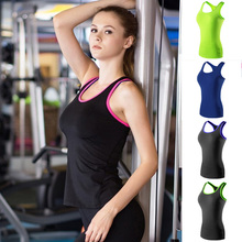 YOUME New Yoga Tops Women Quick-Drying Women Sports Vest Tights PRO Running Yoga Fitness Vest Shirts Tee