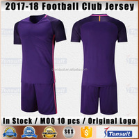 Grade ori soccer jersey thai quality football shirts in stock customized blank football uniform team set 2017