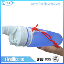 Best Heat-resistant Non-toxic Hygiene Foldable Soft BPA Free Silicone Purified Boxing Water Bottle
