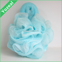 Yiwu Factory Price Professional Loofah Mesh Bath Sponge With Brush