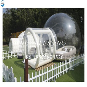 Promotional cheap inflatable outdoor transparent bubble tent for camping