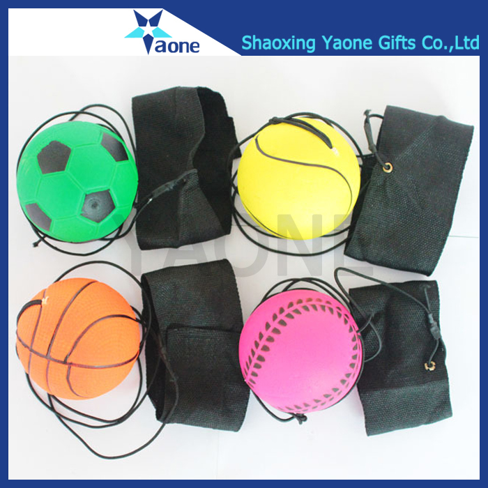 Cheap soft rubber wrist return ball