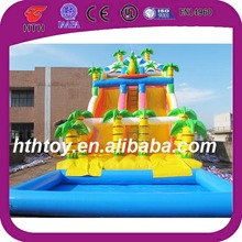 New giant inflatbale surfing dragon inflatable slide with pool,giant inflatable slide with pool
