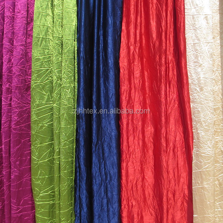 Crushed knitted oriental curtain fabric for curtain styles for dubai