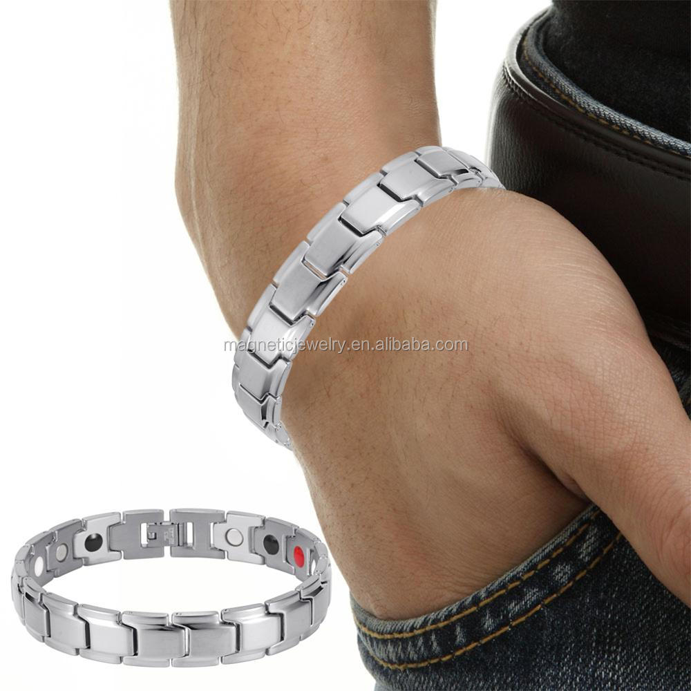 Black China Factory 316l Stainless Steel Energy Bracelet Jewelry Manufacturer