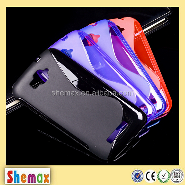Hot-selling s-line TPU clear cover case for alcatel pop c7