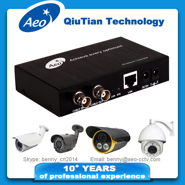 CCTV - 10/100/1000Base_T(X) IP coaxial video signal converter / extender / transmitter and receiver