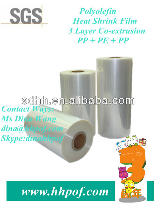 Cear POF Heat Shrink Packing Film