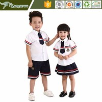 KU008 Carmy Korean School Girls Band Kindergarten Uniform With Badges Pictures