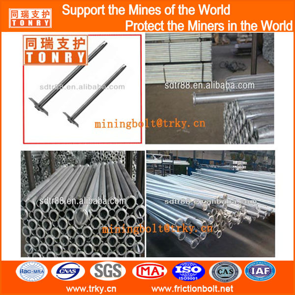 high strength under tunnel support Friction swellex rock anchor bolts