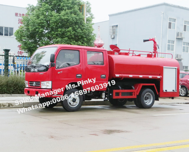 3000Liters Full Drive Water Truck Desert Water Fire Truck Water Tank Truck Cross Country SUV