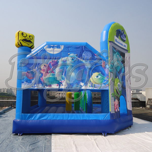 Monsters Inc Cartoon Inflatable Bouncers Houses Jumping Castle