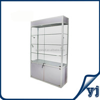 Lockable glass key cabinet with sliding door, glass window display showcase