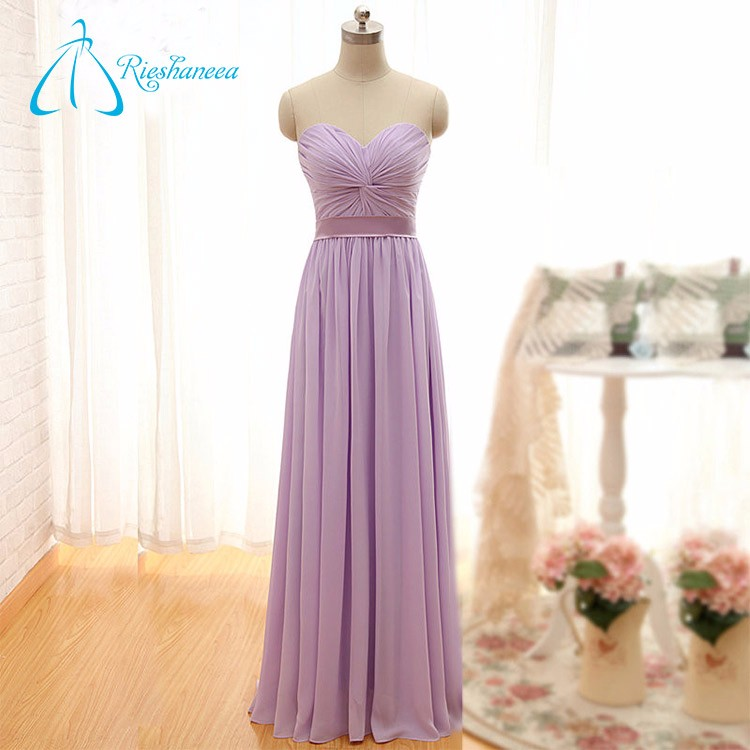 Sheath Sweetheart Chiffon Custom Made Wedding Bridesmaid Dress