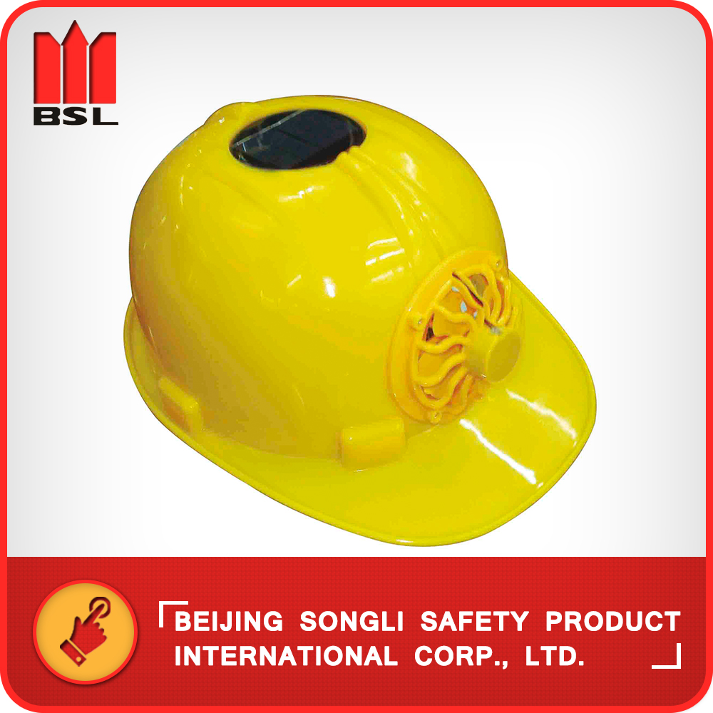 High strength Good rigidity solar power welding safety helmet with fan helmet